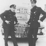 Fictitious patrolmen, Fred Gwynne and Joe E. Ross pose in a 1960's publicity photo. (Courtesy of General Artists Corporation)